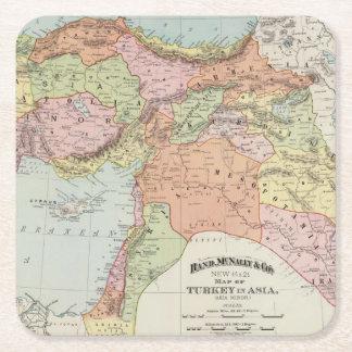 Turkey in Asia 6 Square Paper Coaster