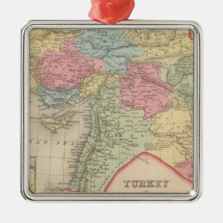 Turkey in Asia 7 Silver-Colored Square Decoration