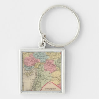 Turkey in Asia 7 Silver-Colored Square Key Ring