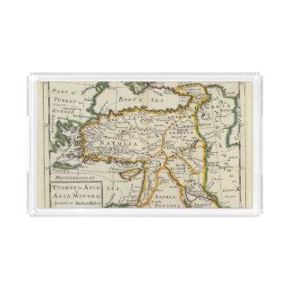 Turkey in Asia or Asia Minor Acrylic Tray