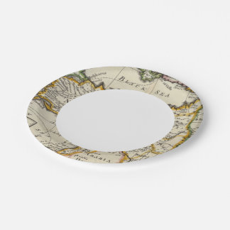 Turkey in Asia or Asia Minor Paper Plate