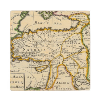 Turkey in Asia or Asia Minor Wood Coaster