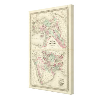 Turkey in Asia, Persia, Arabia, Beloochistan Canvas Print