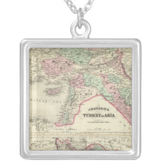 Turkey in Asia, Persia, Arabia, Beloochistan Silver Plated Necklace
