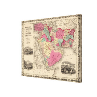 Turkey In Asia Persia Arabiaandc Canvas Print