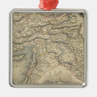 Turkey In Asia Silver-Colored Square Decoration