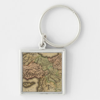 Turkey in Asia Silver-Colored Square Key Ring