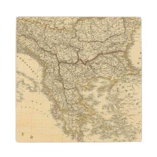 Turkey in Europe 3 Maple Wood Coaster