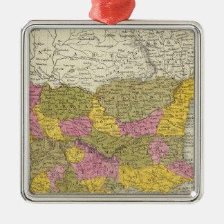 Turkey In Europe 3 Silver-Colored Square Decoration
