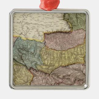 Turkey in Europe 5 Silver-Colored Square Decoration
