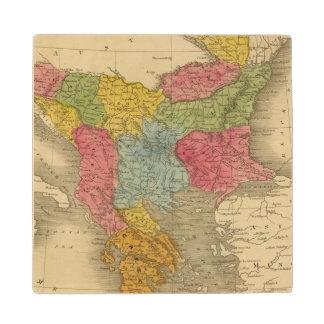 Turkey in Europe 8 Maple Wood Coaster