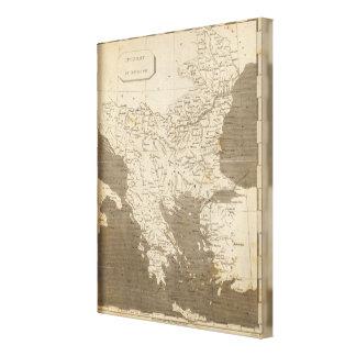 Turkey in Europe Map by Arrowsmith Canvas Print