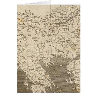 Turkey in Europe Map by Arrowsmith Card