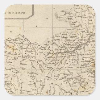 Turkey in Europe Map by Arrowsmith Square Sticker