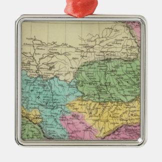 Turkey in Europe Silver-Colored Square Decoration