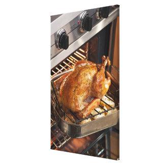 Turkey in oven canvas print