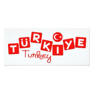 TURKEY invitation - customize