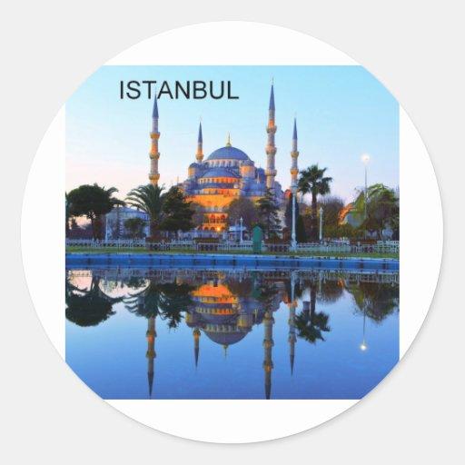 Turkey Istanbul Blue Mosque (St.K) Classic Round Sticker