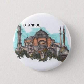 Turkey Istanbul Hagia Sophia (by St.K) 6 Cm Round Badge