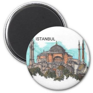 Turkey Istanbul Hagia Sophia (by St.K) 6 Cm Round Magnet
