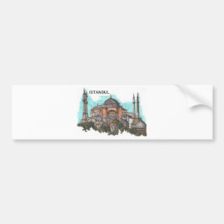 Turkey Istanbul Hagia Sophia (by St.K) Bumper Sticker