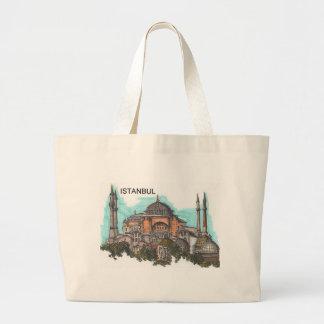 Turkey Istanbul Hagia Sophia (by St.K) Large Tote Bag