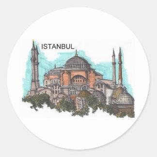 Turkey Istanbul Hagia Sophia (by St.K) Round Sticker