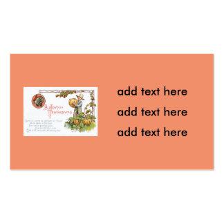 Turkey Little Boy Pumpkin Patch Pack Of Standard Business Cards