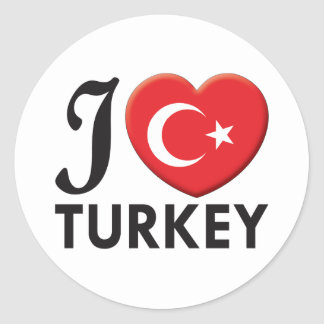 Turkey Love Classic Round Sticker