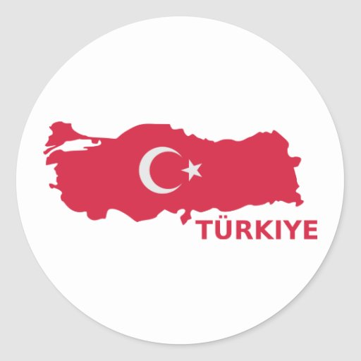 Turkey map flag Türkiye Sticker