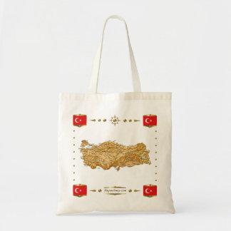 Turkey Map + Flags Bag