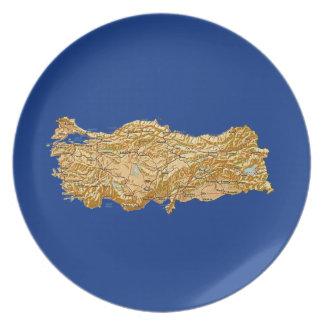 Turkey Map Plate