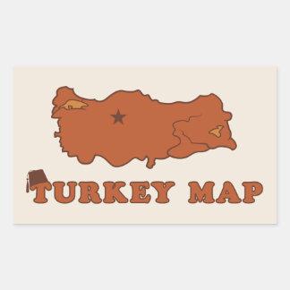 Turkey Map Rectangle Stickers