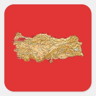 Turkey Map Sticker
