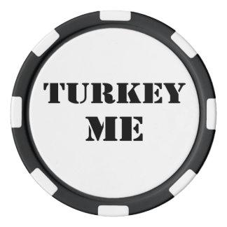 Turkey Me Poker Chips
