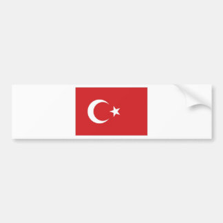 Turkey National Flag Bumper Sticker