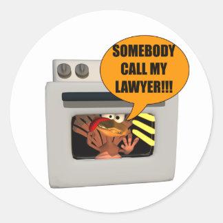 Turkey Need Lawyer Classic Round Sticker