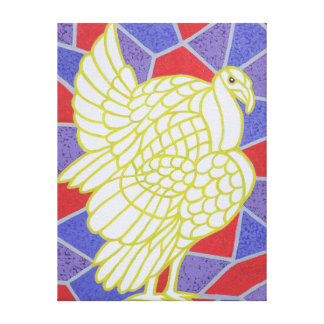 Turkey on Stained Glass Canvas Print