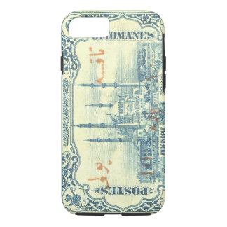 turkey ottoman empire stamp vintage - blue & white iPhone 7 case