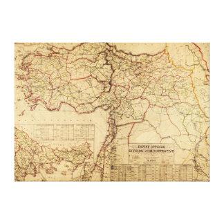 Turkey, Ottoman EmpirePanoramic MapTurkey Canvas Print