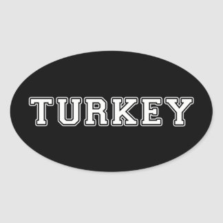 Turkey Oval Sticker