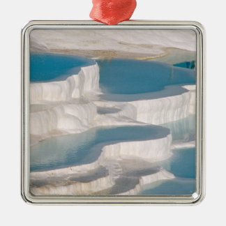 Turkey, Pamukkale Cotton Castle). Christmas Ornament