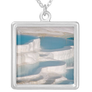 Turkey, Pamukkale Cotton Castle). Silver Plated Necklace