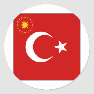 Turkey President Flag Classic Round Sticker