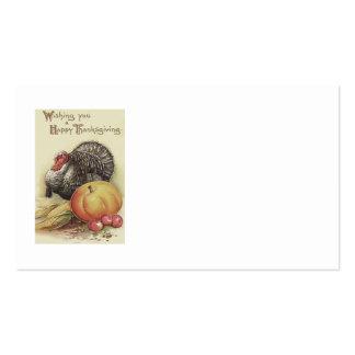 Turkey Pumpkin Apple Corn Thanksgiving Pack Of Standard Business Cards