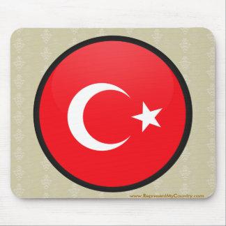 Turkey quality Flag Circle Mouse Pad
