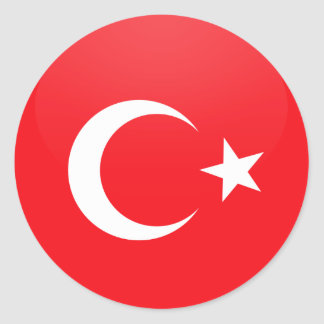 Turkey quality Flag Circle Round Sticker