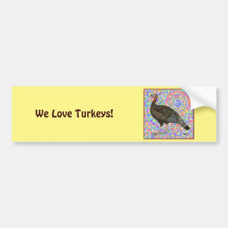 Turkey Rainbow Bumper Sticker