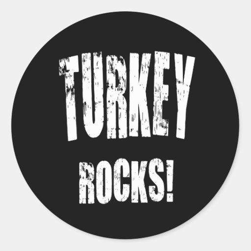 Turkey Rocks! Round Stickers
