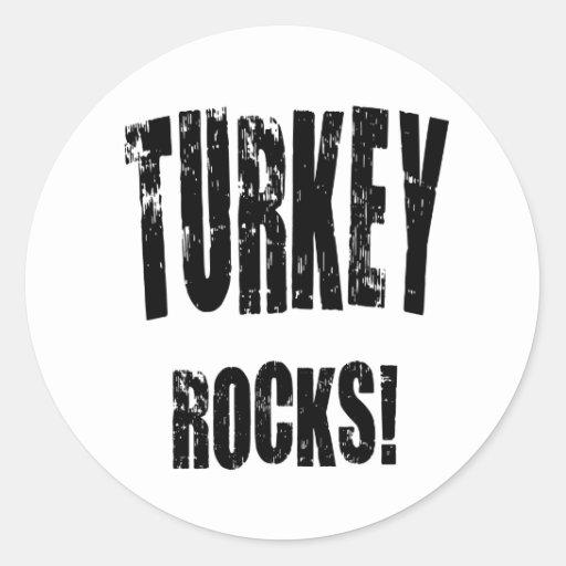 Turkey Rocks! Round Sticker